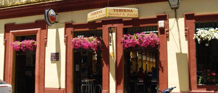 Detalle fachada. Restaurantes en Córdoba. Sociedad Plateros María Auxiliadora