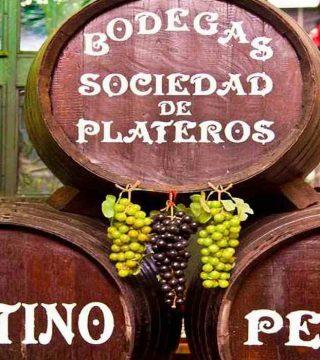 Vista detalle barriles en el Restaurante Sociedad Plateros Maria Auxiliadora