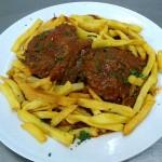 Carrillada Iberica con setas al Tomillo adaptado sin gluten para celiacos para comer en patio cordobes con arcos Mezquita Catedral