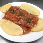 Lomo de Bacalao al PX para celiacos en Restaurante en Cordoba Sociedad Plateros Maria Auxiliadora para comer cerca del Palacio de Viana en Cordoba