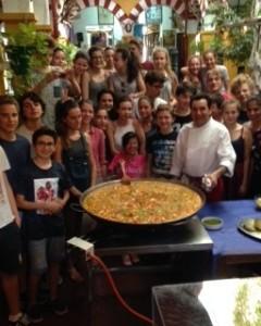 Curso cocina estuadiantes franceses Restaurante Sociedad Plateros Maria Auxiliadora 2