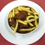 Ciervo Estofado adaptado sin gluten para celiacos comer Cordoba Restaurante Sociedad Plateros Maria Auxiliadora Mezquita Catedral cerca palacio de viana