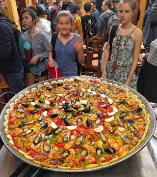 Curso de paella para estudiantes franceses en el Restaurante Sociedad Plateros Maria 03